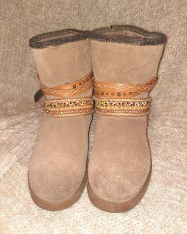 Демисезонные ботинки  из натуральной замши