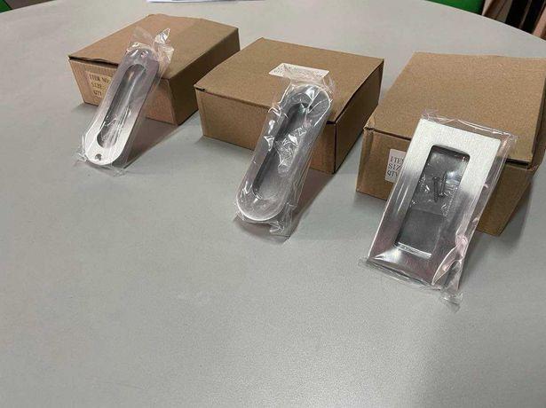 Puxadores Inox Concha para portas de correr