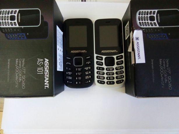 Телефон на две сим карты ASSISTANT AS-101,в наличии белый и чёрный.
