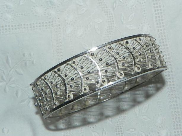 Bransoletka srebrna ażurowa