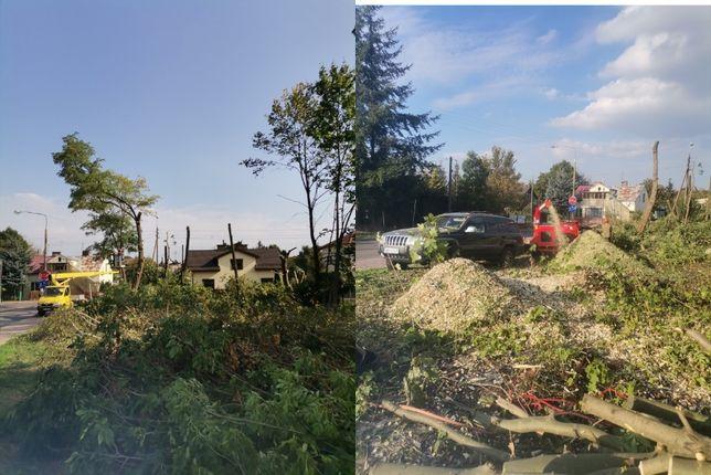 Wycinka drzew, koszenie prace ogrodowe, działki budowlane inwestycyjne