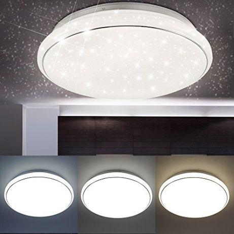 Plafon LED zimne ciepłe JUPITER Leuchten Direkt biały chrom 2050 lumen