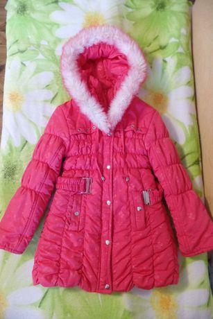 Куртка-пальто зимняя на девочку