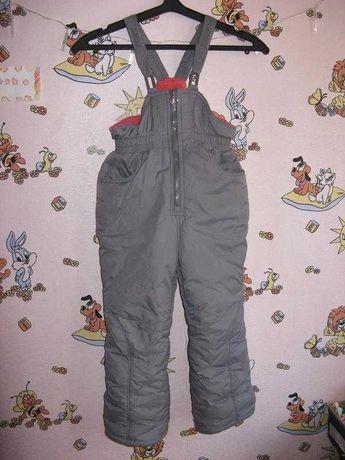 Зимние термо штаны полукомбез 92-98р
