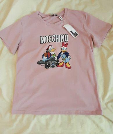 Новая футболка розового цвета