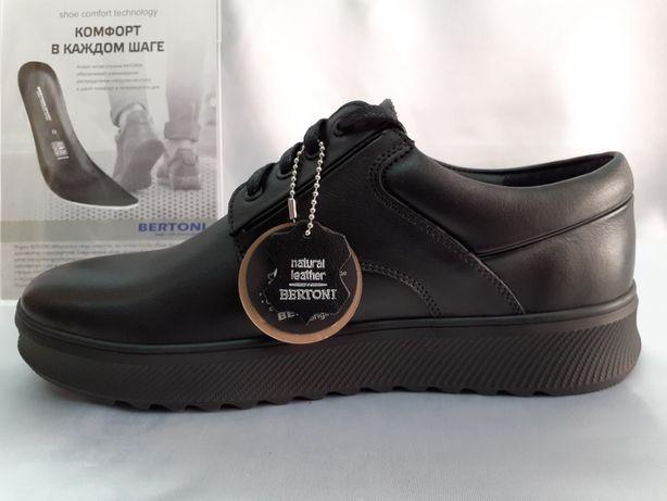 Скидка!Демисезонн.туфли,полуботинки на платформ Bertoni 41,42,43,43р.