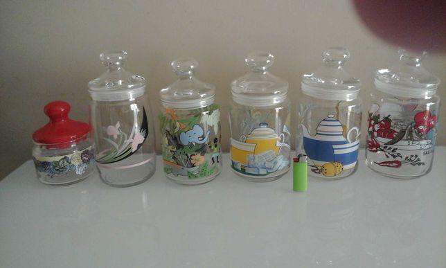 Conjunto de 6 frascos vintage