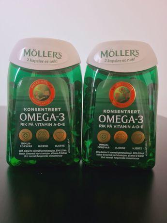 Mollers омега-3 с витаминами A, D, E, Норвегия