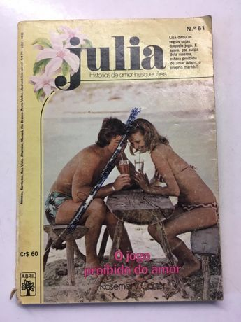 Livro - 'Julia' - O Jogo Proibido do Amor