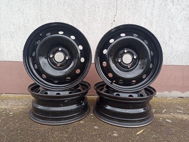 "Felgi stalowe Renault 15"" cali 4x100 6J ET43 ori X346 komplet+kołpaki"