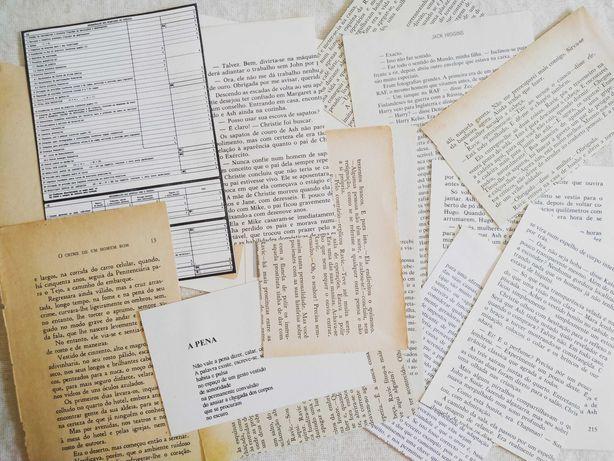 Pack Papel de Livros Vintage: Journaling, Junk Journal, Scrapbooking