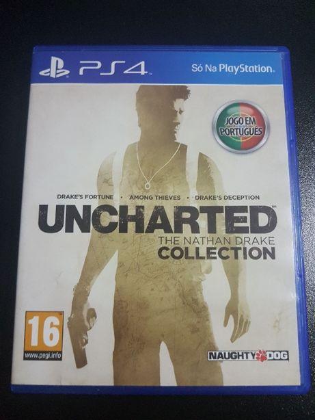 Uncharted The Nathan Drake Collection 1,2 e 3 para PS4