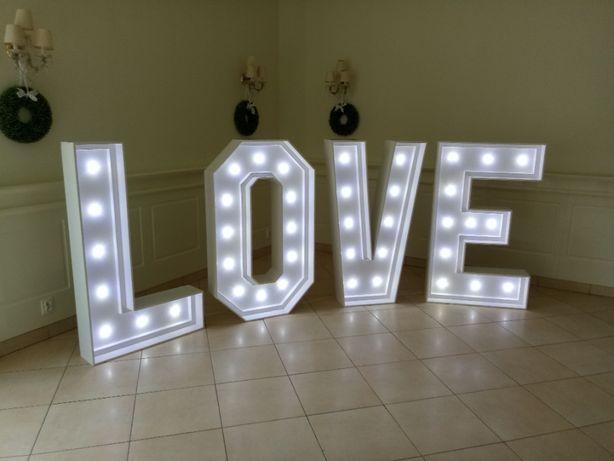 Napis LOVE Ślub Wesele DUŻY 140cm 12v 230v LED Mobilny Śląsk