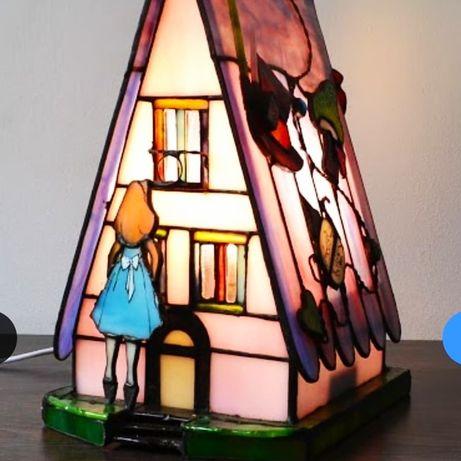 Будиночок -лампа Тіффані в стилі Аліса в країні чудес