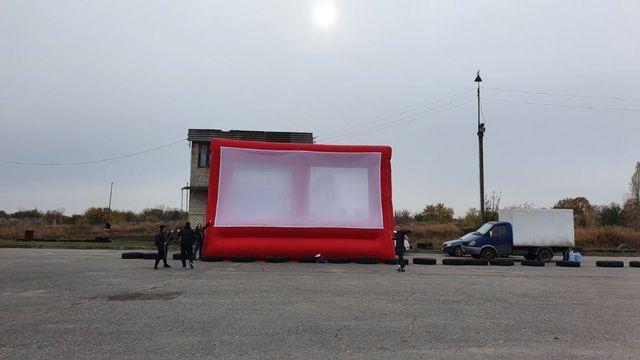 Аренда экрана 6*9 метров для рекламных мероприятий и кинопоказов
