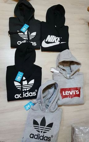 Bluzy damskie z logo Nike Adidas Levis S-XL!!!