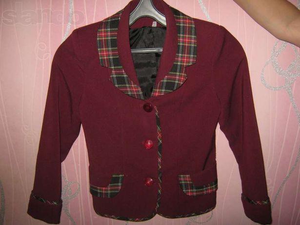 Школьная форма для девочки 7-8лет,двойка(пиджак,брюки