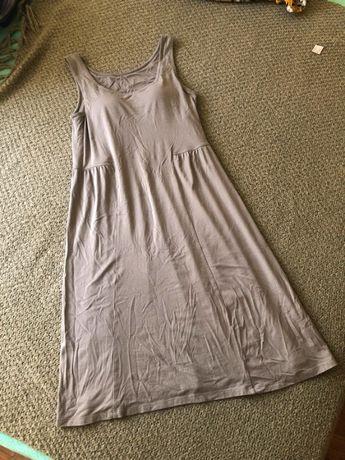 Sukienka khaki lato gumki wbudowany stanik uniwersalna ciążowa ciąża