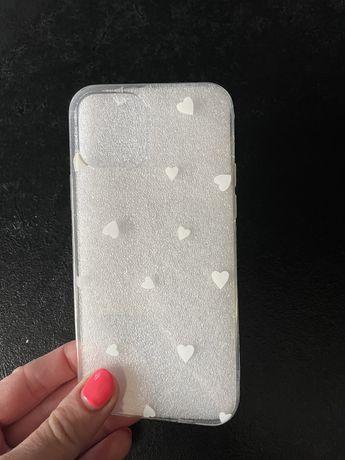 Iphone 12 etui na telegon przezroczyste silikonowe serca