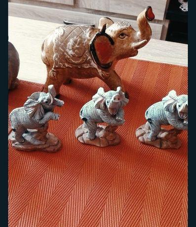 Słonie porcelana figurki dekoracje