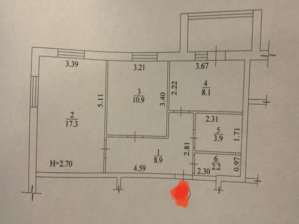 Продам 2-х комнатную квартиру, ЖК Мира-2.
