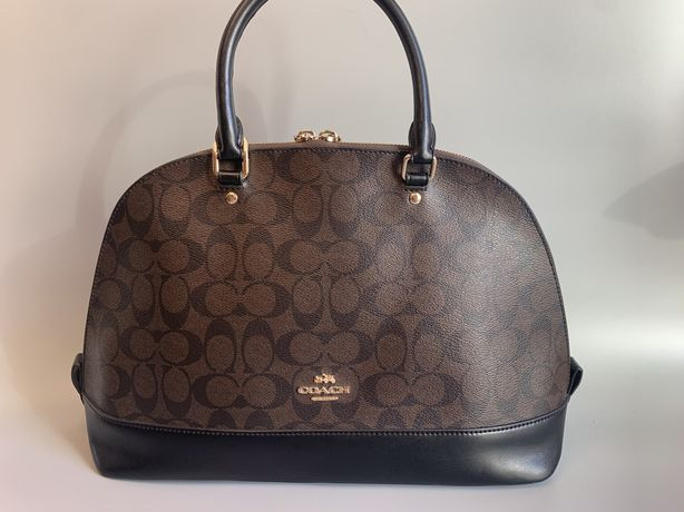 Кожаная сумка Coach gucci versace dior