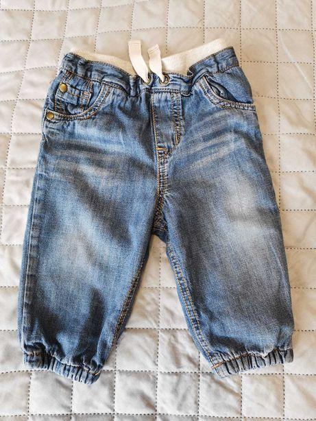 Ocieplane jeansy unisex 74 F&F