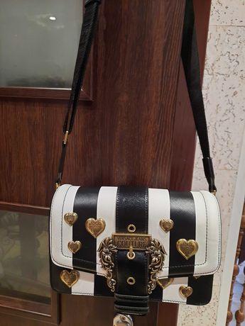 Torebka  oryginalna  Versace Jeans Couture  czarny biały nowa