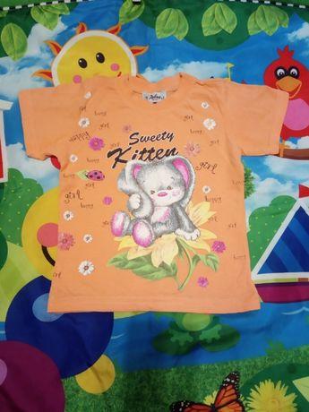 Очень красивая нарядная футболка на 1-2 годика