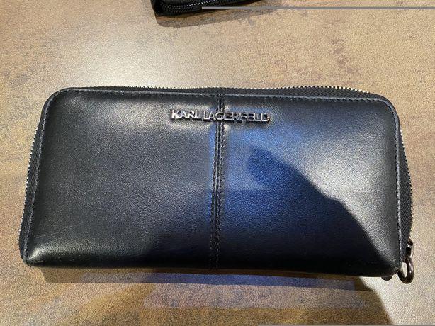 Karl lagerfeld portfel skorzany stan bardzo dobry