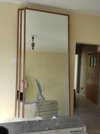 Drzwi przesuwne z lustrami do szafy w zabudowie 245x80