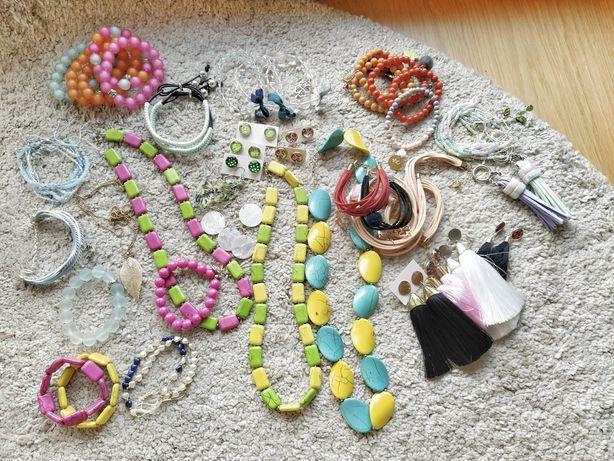 Biżuteria nowa bransoletki kolczyki naszyjniki