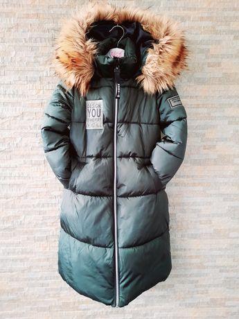 Зимове дитяче пальто куртка Моnе 7-8 років 122 см.