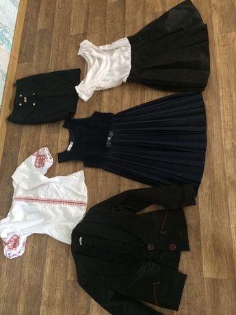 Пакет школьных вещей на девочку юбка сарафан пиджак вышиванка