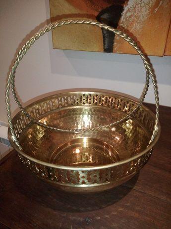 Peça decorativa dourada