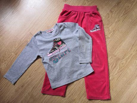 Komplet dresy i bluzeczka 3-4 latka