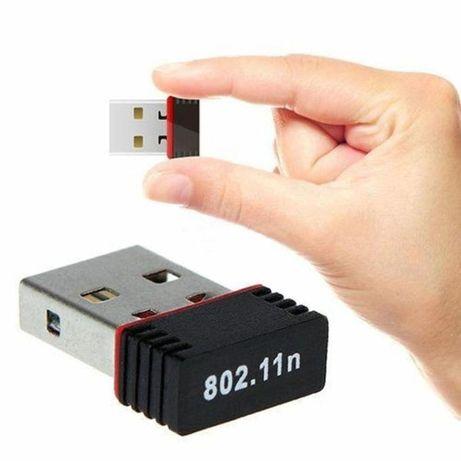 Mini WiFi адаптер, вай фай через юсб WiFi USB 150 Mбит/с