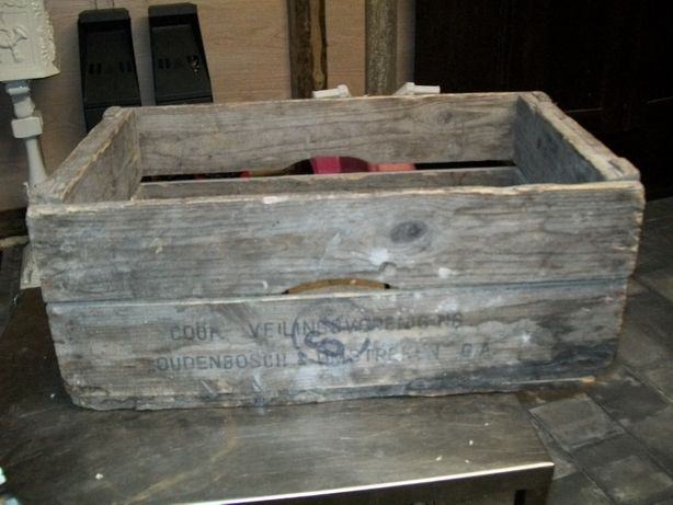 Stara Drewniana Skrzynia Antyk Zabytek 1960