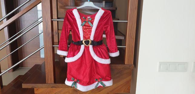 Sukienka Śnieżynka Strój karnawałowy 5-6 lat