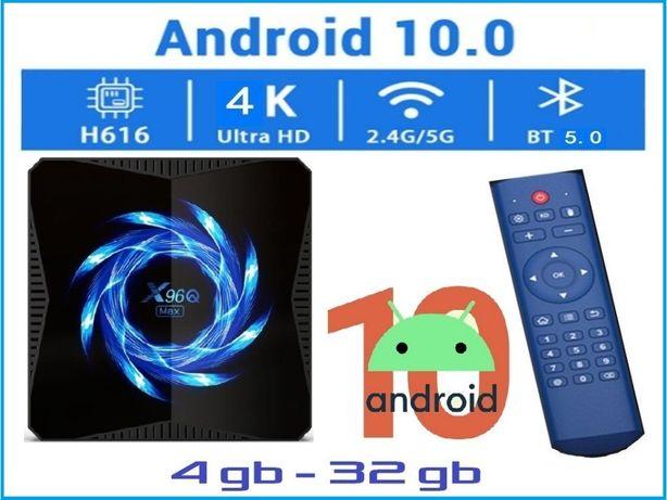 X96Q MAX 4гб 32гб Андроид 10 Смарт ТВ приставка с настройками 2020 год