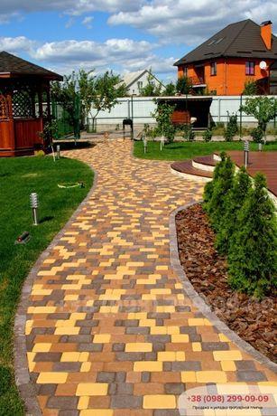 Тротуарная плитка Старый Город, толщина 40 мм цветная