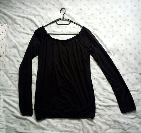 Bluzka czarna Sinsay ze ściąganymi rękawkami