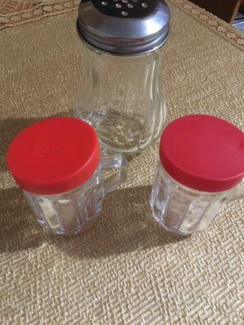 Pojemniczki szklane PRL