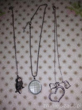 Łańcuszek i wisiorek komplet 3  naszyjnik elegancki biżuteria Rm1000