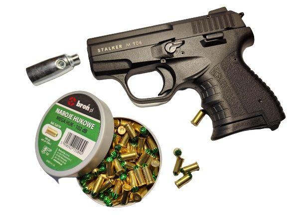 ZESTAW Pistolet Hukowy STALKER M906 + Amunicja Green Mega huk 6mm