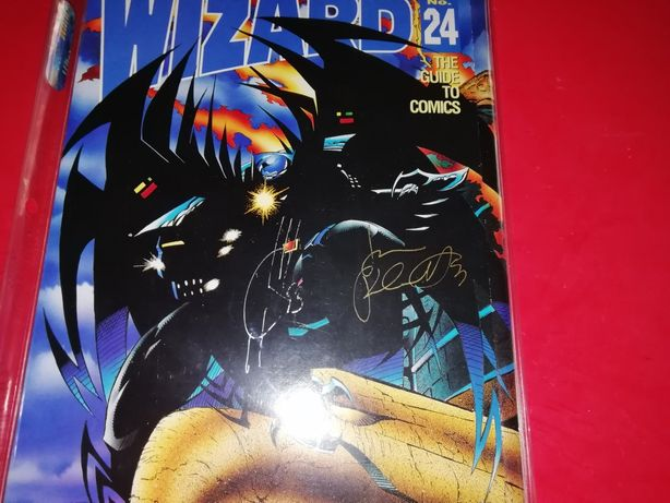 4x wizard revista de cómics 1x do batman assinada com certificado