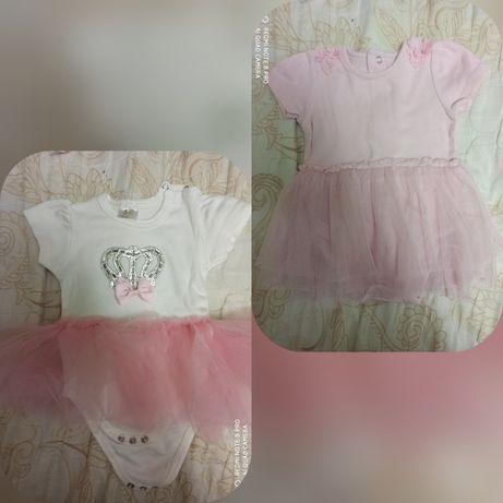 Одяг на дівчинку 3-6 міс, боді, сукня, лосінки, ползунки, сарафан