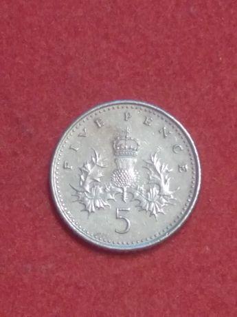 Пять пенсов 2004 года Великобритания