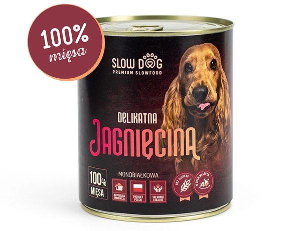 SLOW DOG - Karma mokra dla psa - Jagnięcina - 100% mięsa
