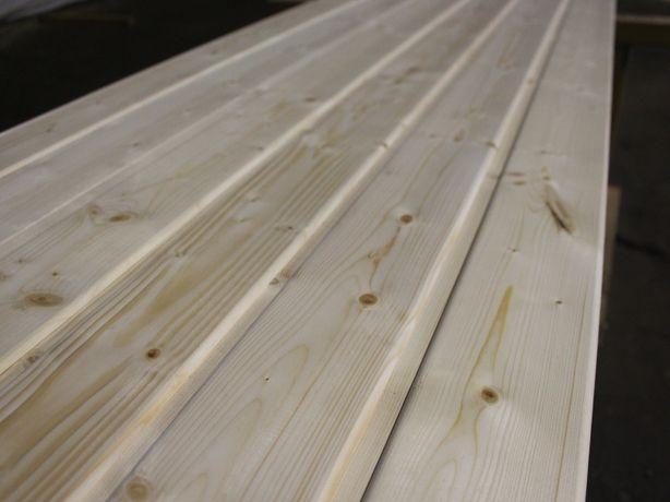 Podbitka dachowa z drewna świerk skandynawski. Śląsk.